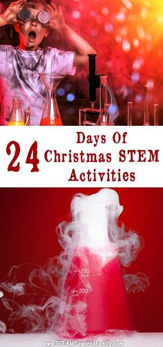 24 Days of Christmas STEM Activities - Countdown to Christmas with our list of secular holiday STEM projects for hands on learning. via @steampoweredfam