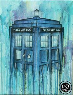 Pretty TARDIS fan art!
