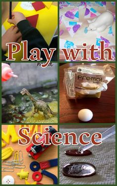 Play with Science Preschool Activities. Shapes activities, polar bear and Arctic, dinosaurs play, clay craft, explore magnets, dropper and coins experiment.