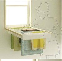 neat built in dryer rack for laundry room 赶上个好天气你会做什么呢?看看窗外的风景,… 来自老王8210在堆糖网的分享