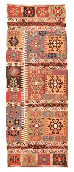 Vintage Cal Kilim Runner around 30 years old.