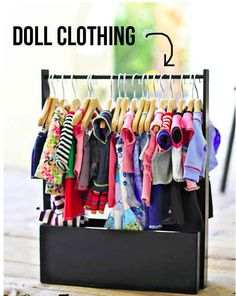 Clothes Rack | 39 American Girl Doll DIYs That Won't Break The Bank
