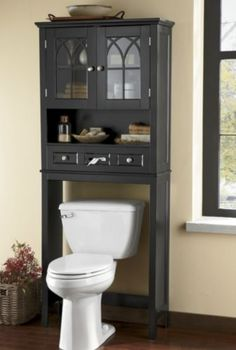 covington space saver this handsome space saver will fit over any standard toilet adding valuable space for storing towels and bathroom necessities - Bathroom Cabinets Space Saver