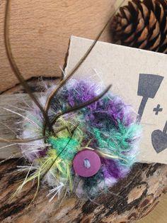 Eco Friendly Super cute Hair Clip / Hair Piece by ShovelandSpade