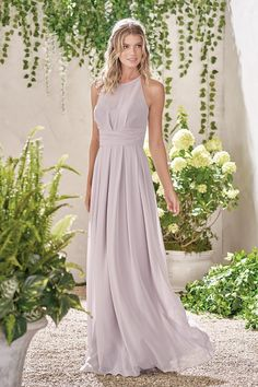 Jasmine Bridesmaids style B193009. Color Graphite. Available at Bridal Collections Spokane, WA