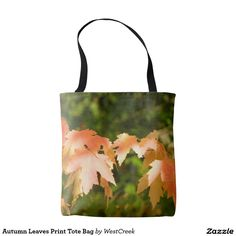 Autumn Leaves Print Tote Bag