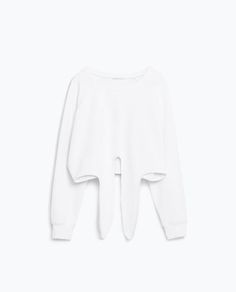 Image 1 of SWEATSHIRT WITH FRONT KNOT from Zara