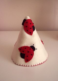 Lady Bug Felt Party Hat Birthday Hat Crown by pixieandpenelope, $15.00