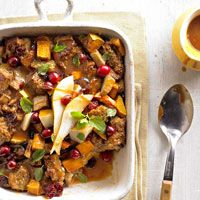 butternut squash, food, breads, holiday recipes, bread puddings, caramel sauc, pud recip, easi pud, bourbon caramel