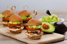 Turkey Sliders with Avocado Mushrooms and Swiss Cheese