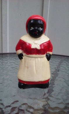 "Vtg Black Americana Aunt Jemima 6"" Ceramic Coin Bank Made In China"
