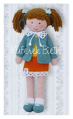 Zizidora Crochet Patterns : Kuferek Bietki: Lalka Bettina / Bettina, Geh?kelte Puppe/ Crochet ...