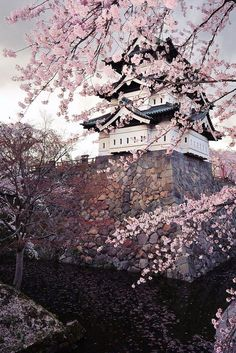 Hirosaki Castle in Spring , Japan