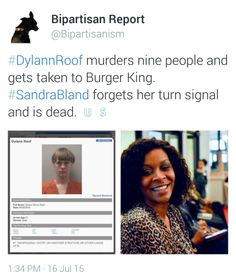 Sandra Bland Pulled her car over, after she became alarmed seeing that she was being stalked on the highway by a cop. The same cop then arrested her, for not signaling during this fearful scenario, and she is now dead. Economic Justice, Social Justice, Truth And Justice, World Problems, Intersectional Feminism, Social Issues, Black History, Equality, Politics