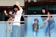 AbRam Khan waves out to SRK's fans