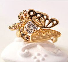 Aliexpress.com : Buy Min order 6pcs/lot(Mix color) Charm Butterfly Ring Finger AAA Zircon Rings for women Wholesale Jewelry Stores Free shipping from Reliable Ring suppliers on Hopenhagen store_ Jewelry Wholesale