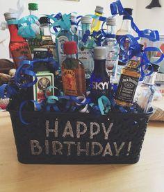 31 Ideas birthday gifts for boyfriend diy for 2019 21st Birthday Gifts For Boyfriend, 21st Birthday Basket, Guys 21st Birthday, 21st Birthday Presents, 21st Bday Ideas, Birthday Gift Baskets, 21st Gifts, Diy Gifts For Boyfriend, Diy Birthday