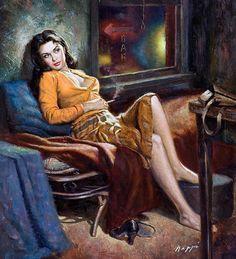 Rudy Nappi Vintage Pulp Art Illustration | Female-Centric Pulp Art | Sugary.Sweet | #Pulp #Art #Illustration