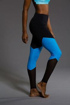 Onzie High Rise Track yoga Legging in Indian Blue on YOGADEPT.COM