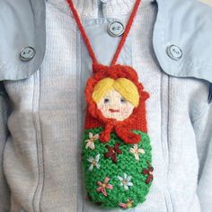 Crochet Case for iPhone or iPod Russian Matryoshka.