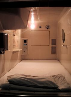 i slept so well in one of these that i want one at home  Capsule Hotel Room by buck82, via Flickr