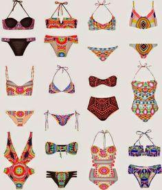 Boho & Crochet swimwear