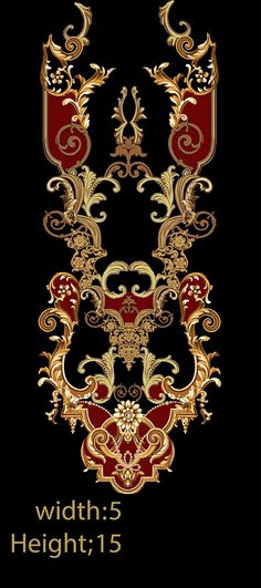 Embroidery designd on Behance Baroque Pattern, Baroque Design, Ikat Pattern, Pattern Art, Textile Prints, Textile Design, Floral Prints, Textiles, Floral Print Background
