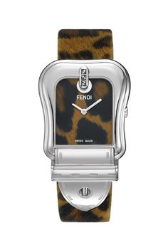 Animal Print Stainless Steel Watch