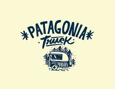 Logo and universe for PATAGONIA TRUCK. A food truck located on the base of Cerro Chapelco, San Martín de los Andes. Patagonia Argentina.