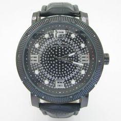 Super Techno Mens Diamond Watch 0.10ct Joe Rodeo. $49.95