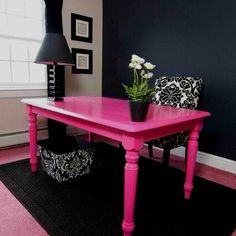 My dream Office. Elle Woods would be proud