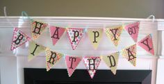 Custom Pennat Banner from Dream Party Paperie on Etsy