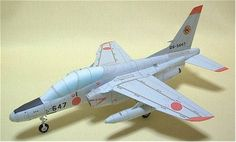 This aircraft paper model is a Kawasaki T-4 (6SQ), a subsonic intermediate jet trainer aircraft used by the Japan Air Self-Defense Force, the paper model is created by PModel, and the scale is in 1:50.