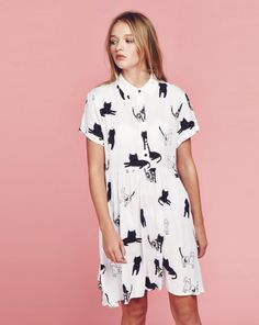 Lazy Oaf Cat Gang Dress - Dresses - Categories - Womens