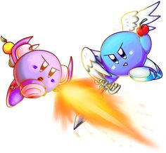 Violet(purple puffball) vs. Silvia (Blue winged puffball)