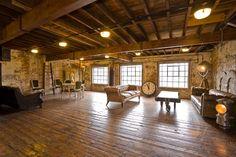industrial lofts | warm, loft , industrial living room