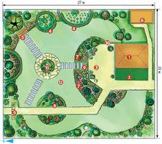Советы эксперта: как обустроить участок в 6 соток ландшафтный дизайн,ландшафт,перепланировка,план участка,планирование,планировка,план