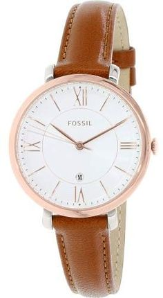 44cf33ddbe Fossil Women s ES3842 Jacqueline Leather Watch
