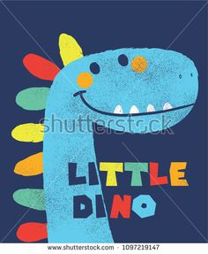 Find Cute Dinosaur Drawn Vector Kids Fashion stock images in HD and millions of other royalty-free stock photos, illustrations and vectors in the Shutterstock collection. Art Drawings For Kids, Drawing For Kids, Painting For Kids, Animal Drawings, Cute Drawings, Art For Kids, Desenho Kids, Dinosaur Party Invitations, Dinosaur Drawing