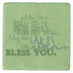 Irish Blessing Stone Coaster #wedding #gifts