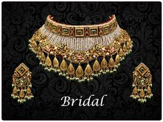 Central India's latest Bridal Jewellery Collection at AT Jewellers Indian Jewelry Sets, Bridal Jewelry Sets, Bridal Jewellery, Wedding Jewellery Designs, Antique Jewellery Designs, Jewelry Design Earrings, Necklace Designs, Gold Jewelry, Gold Mangalsutra Designs