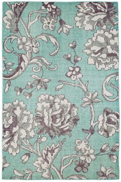 Edie Hand-Knotted Blue Area Rug