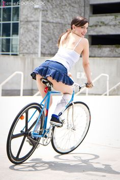 TheFiXFiXFiX » Katy and her Pake | Girls On Bikes | 2012 Calendar Follow us: pinterest.com/fixed_gear