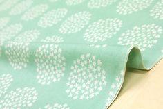 Japanese Fabric Double gauze  hydrangea  mint by MissMatatabi