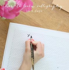 Learn how to write calligraphy!