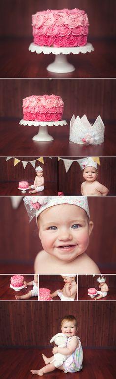 Smash cake session - Becky Naffine Photography