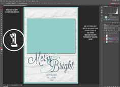 Tutorial and FREE holiday card template.