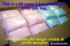 Individual Pre-Packaged Cotton Candy Bags - Add your own label