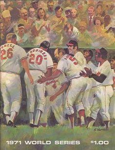 1971 World Series Baseball Program Baltimore Orioles vs Pittsburgh Pirates #MLB #Baseball #Vintage #WorldSeries Hockey, Baseball Gear, Braves Baseball, Baseball Players, Baseball Stuff, Basketball, Pittsburgh Pirates Baseball, Baltimore Orioles Baseball, 1971 World Series