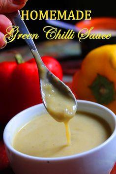 Homemade Green Chilli Sauce Recipe